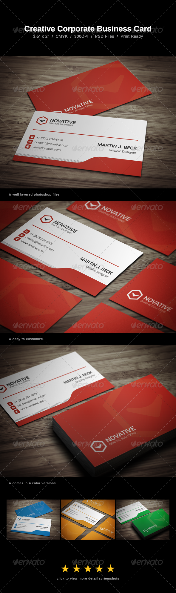 GraphicRiver Corporate Business Card 7887438