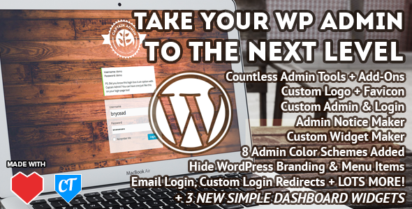 CodeCanyon Captain Admin WP Dashboard Tools & Branding 7887623