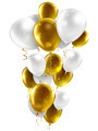 gold and white balloons - PhotoDune Item for Sale
