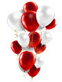 red and white balloons - PhotoDune Item for Sale