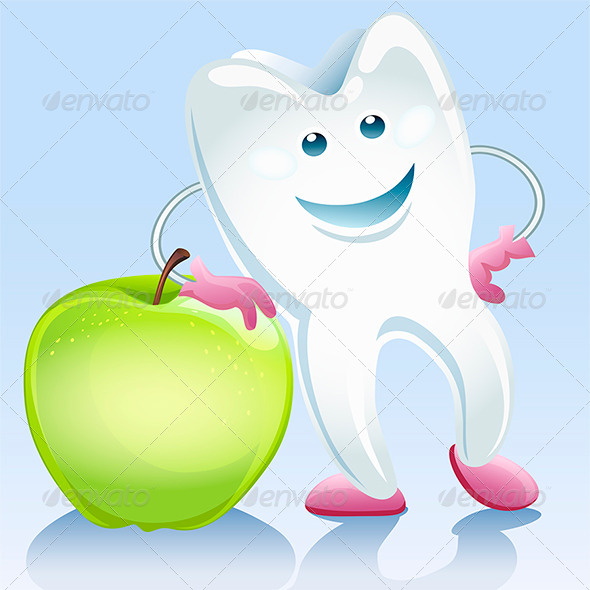 GraphicRiver Tooth and Apple 7887766