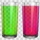 Transparent Glasses with Transparent Colored Juice - GraphicRiver Item for Sale