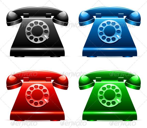 GraphicRiver Retro Telephones 7888151