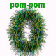 Pom-Pom number - Brazil Color Theme - GraphicRiver Item for Sale