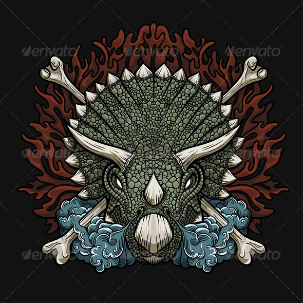 GraphicRiver Triceratops 7888259