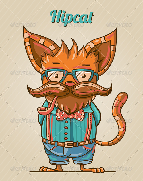 GraphicRiver Hipster Cat 7888371