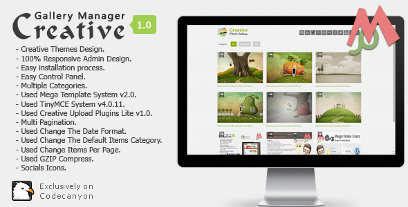 CodeCanyon Creative Gallery Manager 7888458