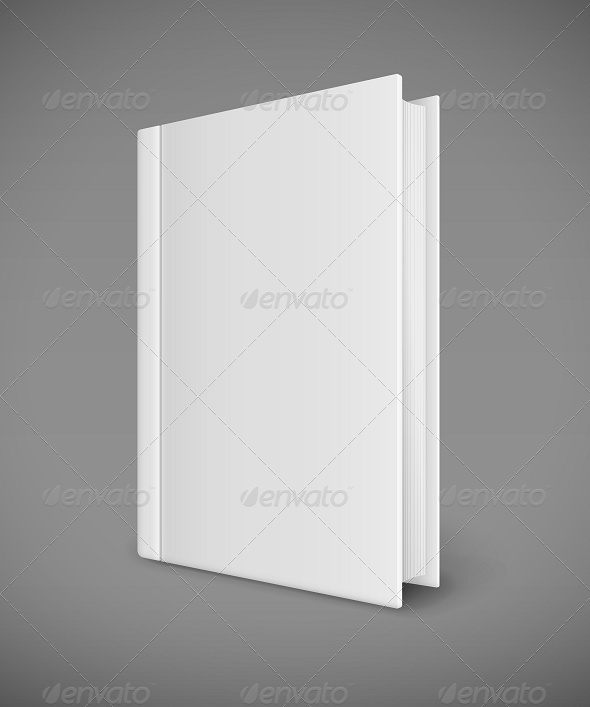 GraphicRiver White Book Template with Blank Cover 7888558