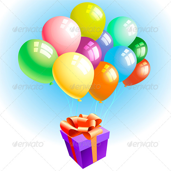 GraphicRiver Balloons with a Gift 7888571