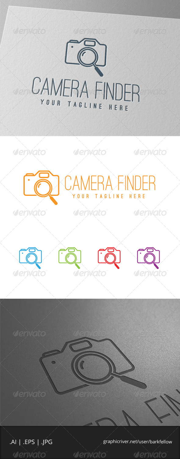 GraphicRiver Digital Camera Photography Search Logo 7888779