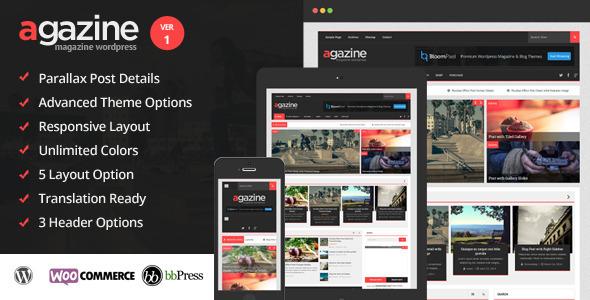 ThemeForest Agazine Premium Retina Magazine WordPress Theme 7664423