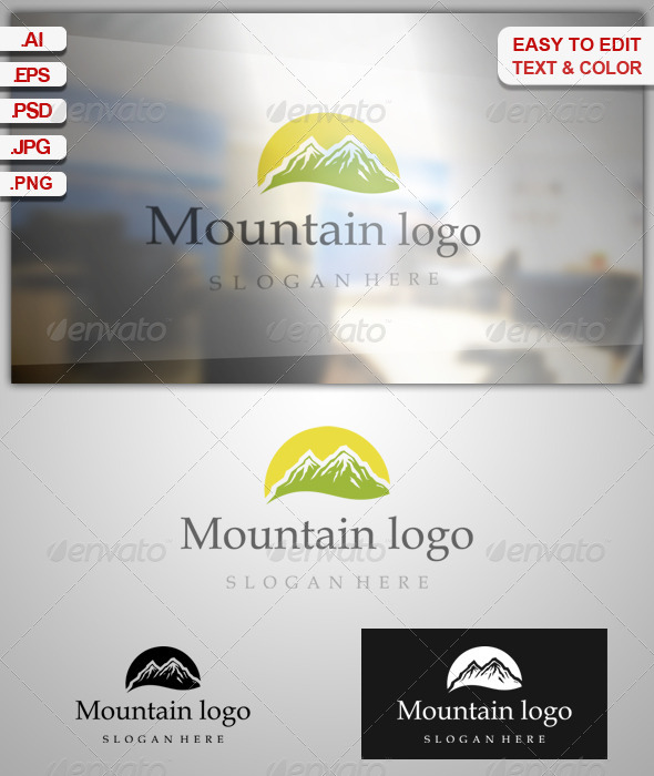 GraphicRiver Mountain Logo 7889133