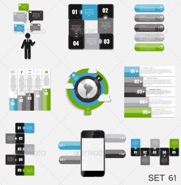 GraphicRiver Collection of Infographic Templates for Business 7889267
