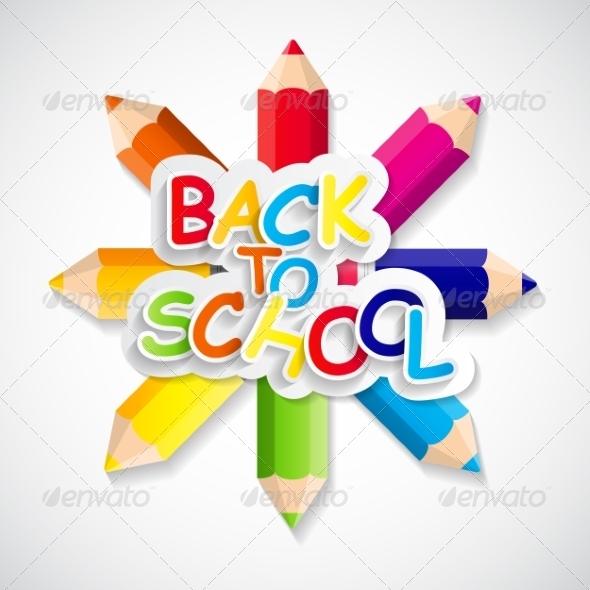 GraphicRiver Back to School Concept Illustration 7889504