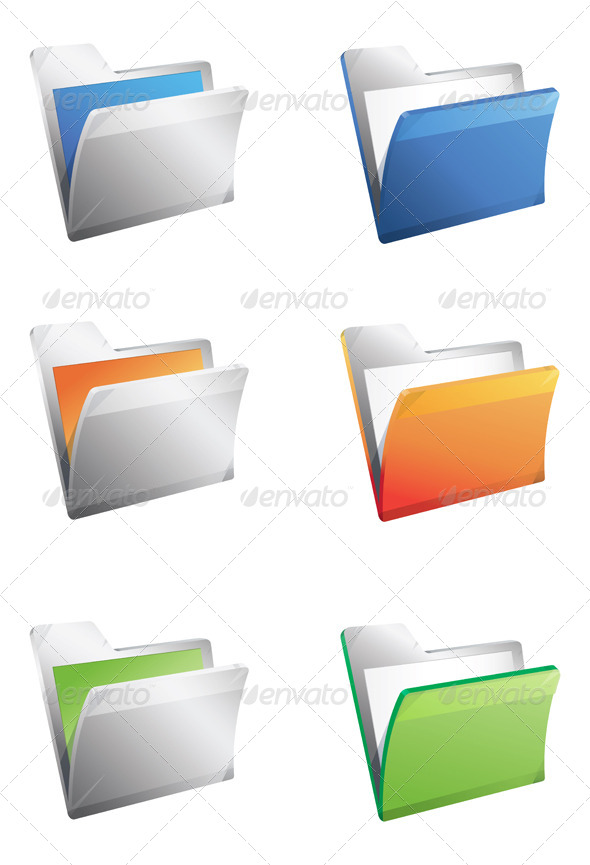 GraphicRiver Folder Icon Illustration 7890035