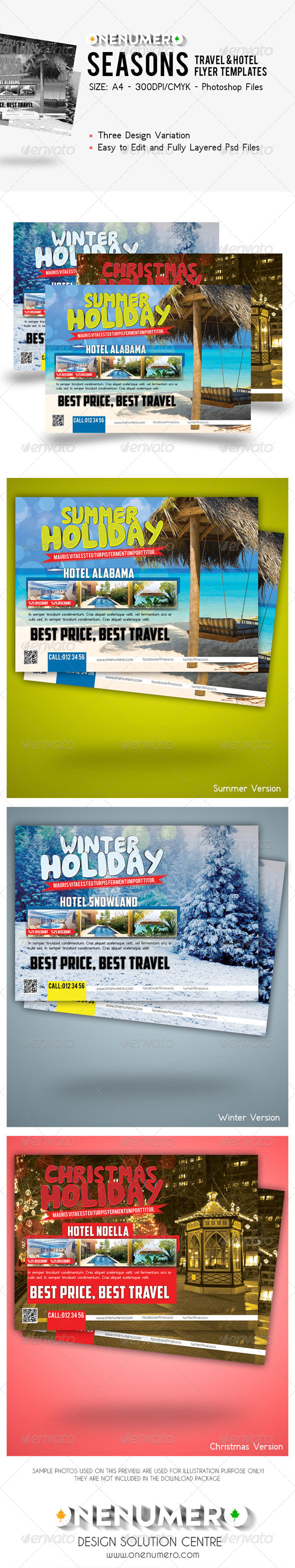 GraphicRiver Seasons Travel Hotel Flyer 7890239