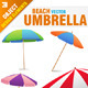 Beach Parasol Set - GraphicRiver Item for Sale
