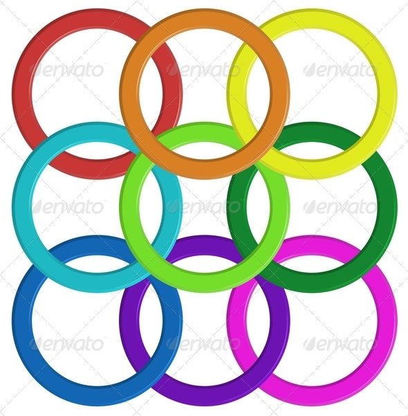 GraphicRiver Colorful Rings 7891660