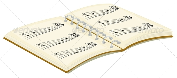 GraphicRiver Music Book 7891679