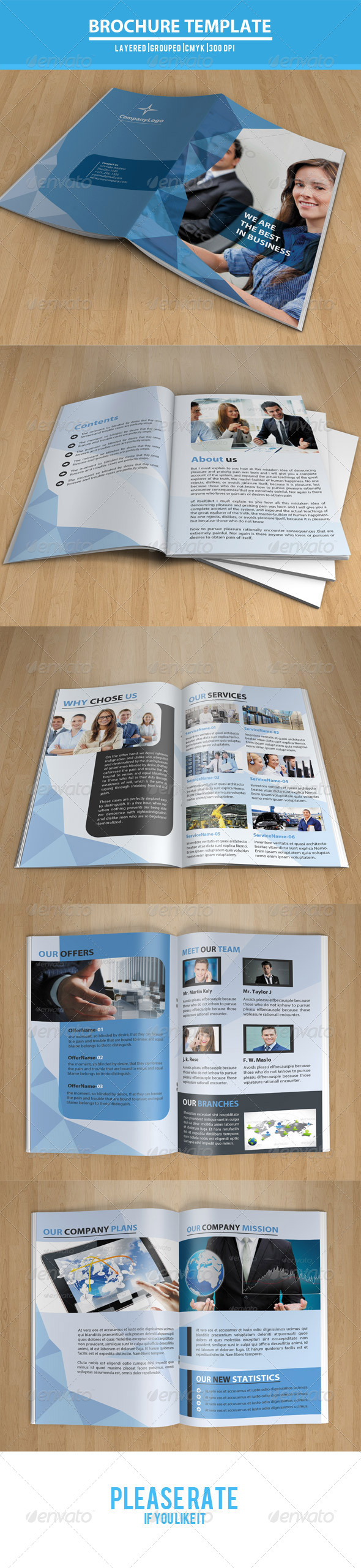 GraphicRiver Bifold Business Brochure-V30 7892141