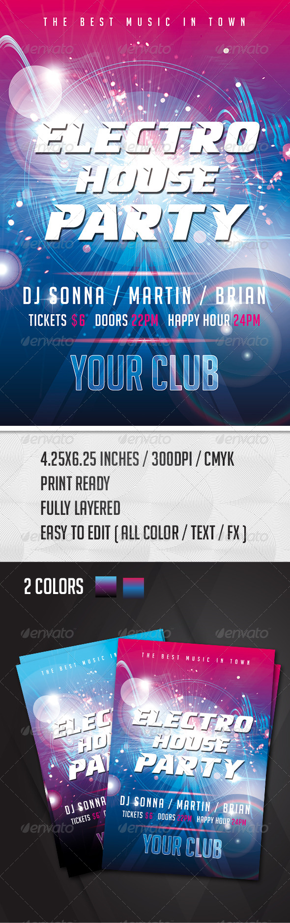 GraphicRiver Electro House Party Flyer 7892265
