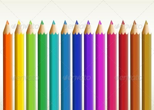 GraphicRiver Colorful Pencils 7892630