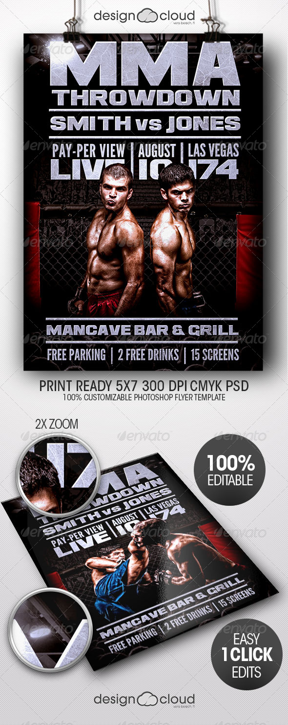 GraphicRiver Throwdown Flyer Template 7892657