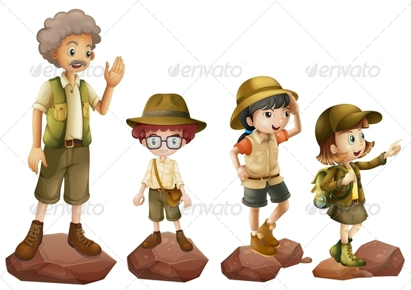 GraphicRiver Family of Explorers 7892946