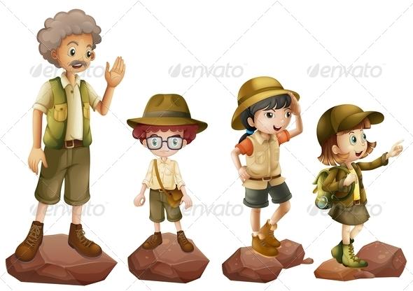 GraphicRiver Family of Explorers 7892946