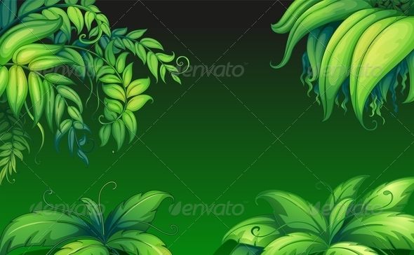 GraphicRiver Green Leafy Plants 7893059