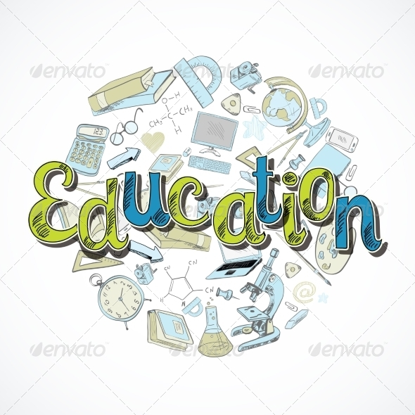 GraphicRiver Education Icon Doodle 7893068