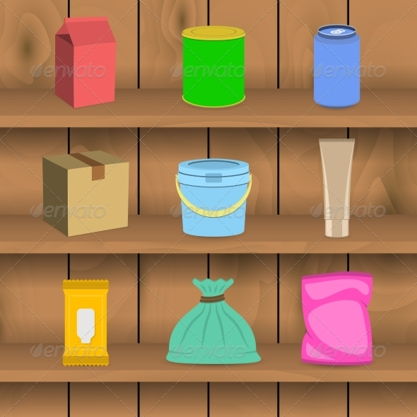 GraphicRiver Pack Container Icon Shelf 7893070