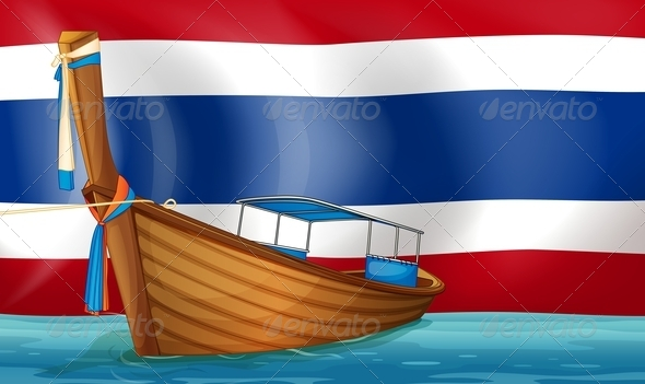 GraphicRiver Boat with Thai Flag 7893082