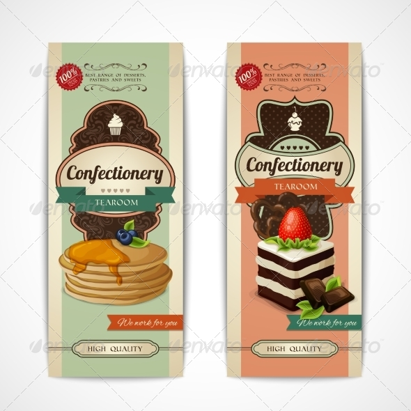 GraphicRiver Sweets Retro Banners 7893166