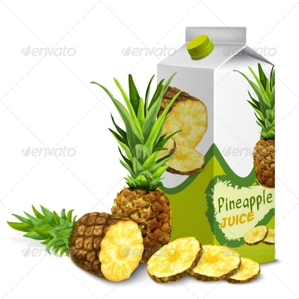 GraphicRiver Pineapple Juice Pack 7893207