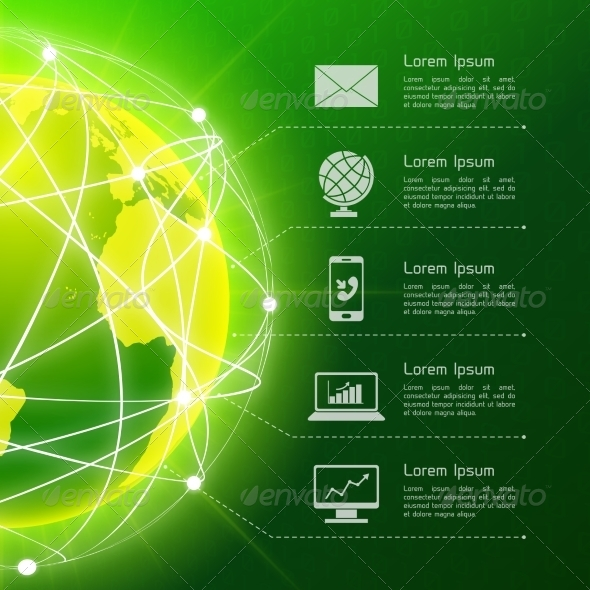 GraphicRiver Network Green Background 7893292
