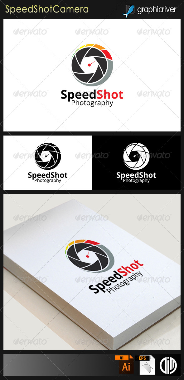 GraphicRiver Speed Shot Photographic Camera Logo 7893437