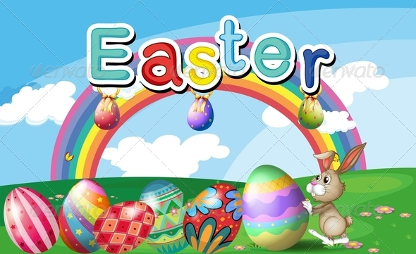 GraphicRiver Easter Rainbow Background 7893451
