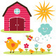 Summer Farm Set - GraphicRiver Item for Sale