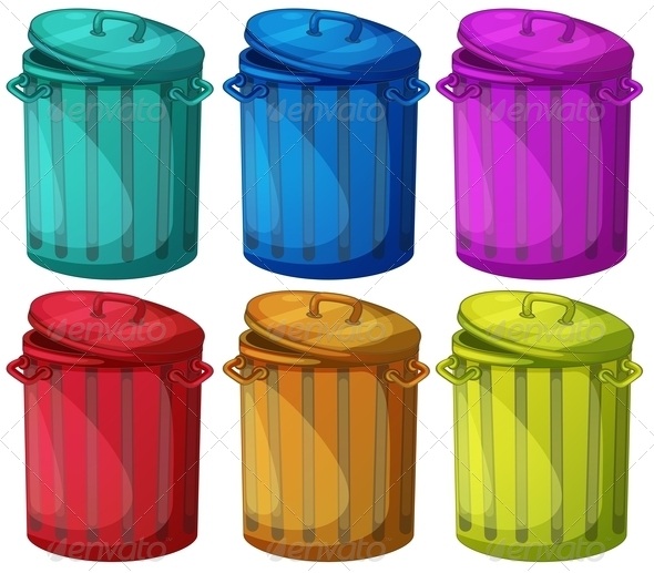 GraphicRiver Six Colorful Bins 7893820