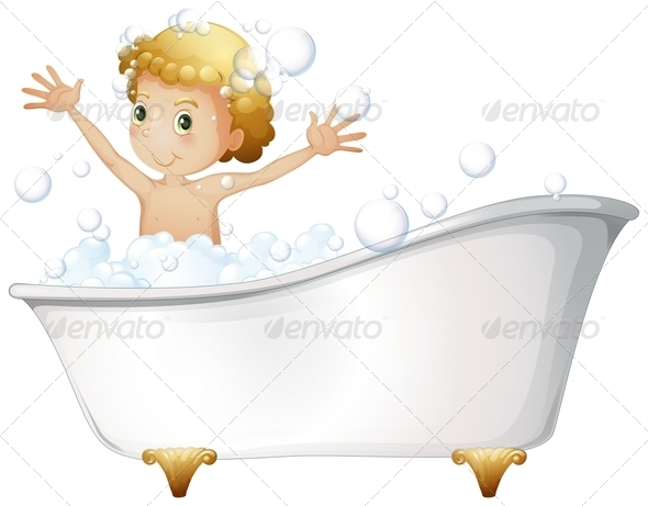 GraphicRiver Boy in Bathtub 7894176