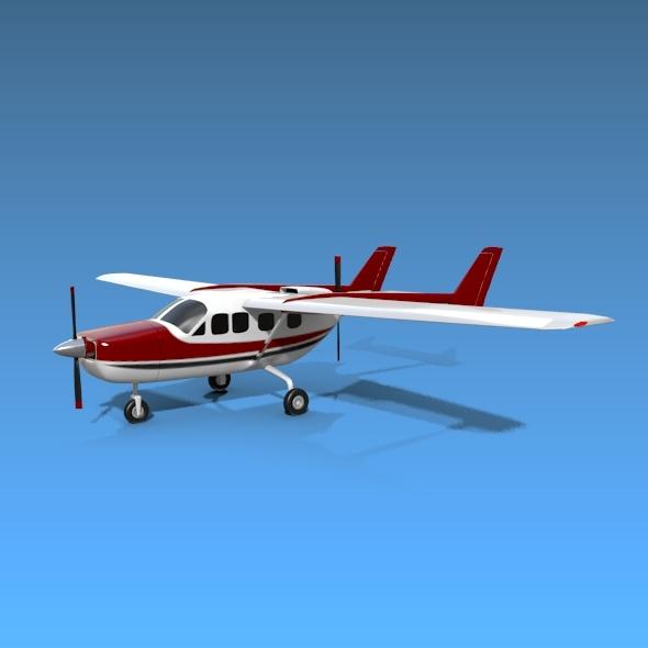 3DOcean Cessna Skymaster 337 propeller aircraft 7895595