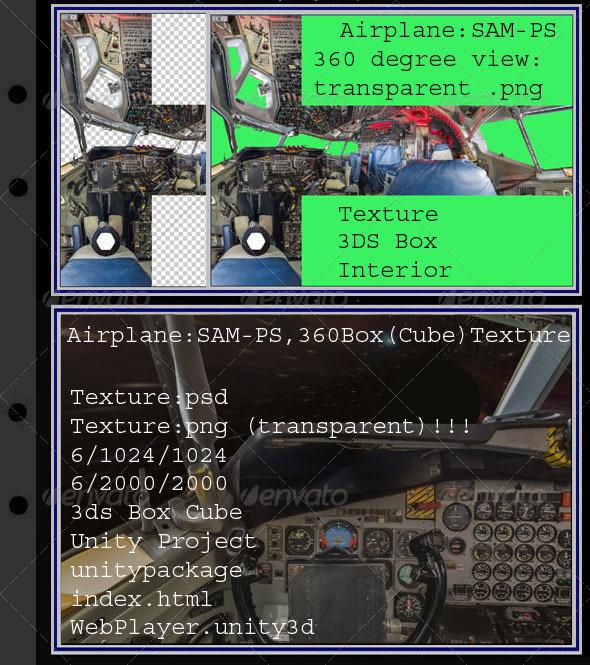 3DOcean Airplane SAM26000-PS interior 7896212