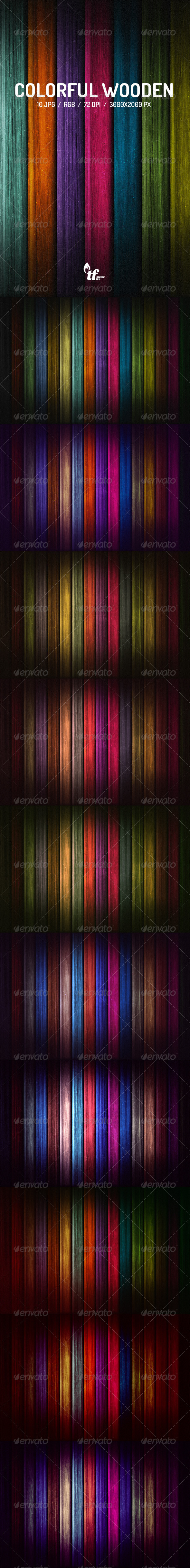 GraphicRiver Colorful Wooden Backgrounds 7896491