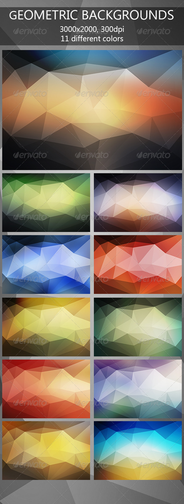 GraphicRiver Geometric Backgrounds 7897395