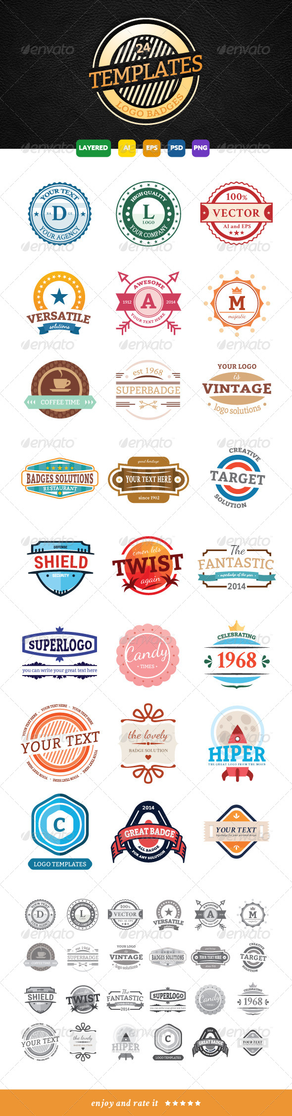 GraphicRiver 24 Modern and Flat Logo Badge Designs 7812033