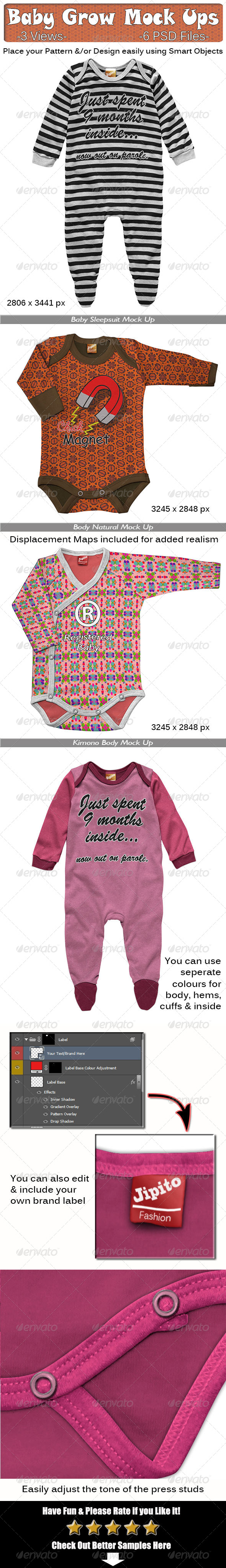 GraphicRiver Baby Grow Mock Ups 7900101