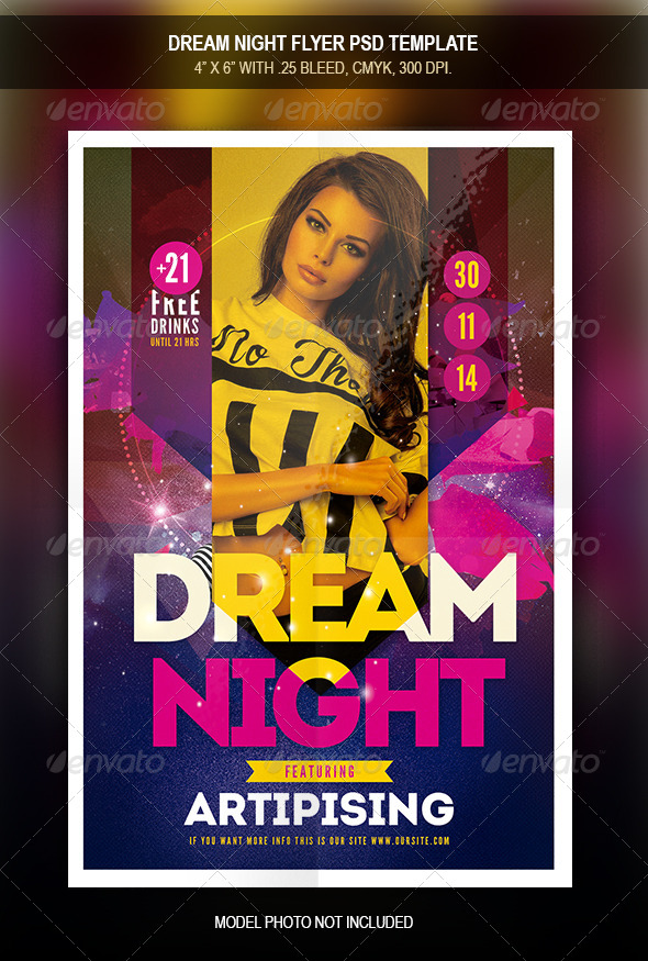 GraphicRiver Dream Night Flyer Template 7900251