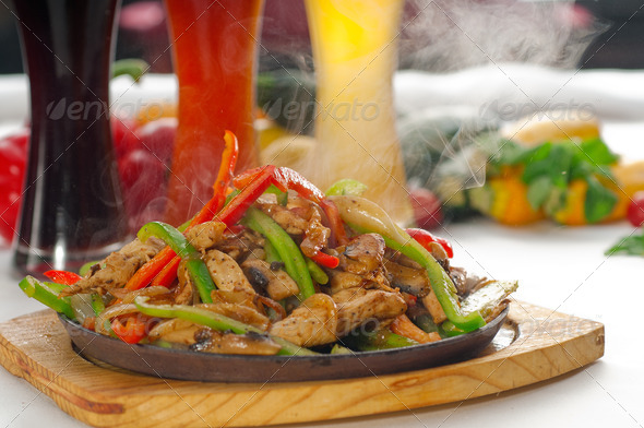 Stock Photo - PhotoDune original fajita sizzling hot on iron plate 806899