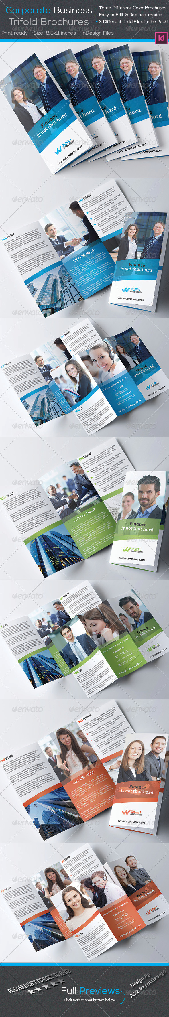 GraphicRiver Corporate Trifold Brochures 7901043